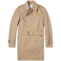 Edifice Gabardine Trench Coat Beige