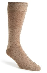 Men's Lorenzo Uomo 'Danubio' Donegal Tweed Socks Beige Noce Taupe