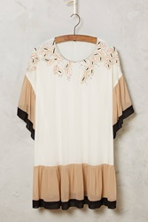 Blank Beaded Owena Top Neutral Motif