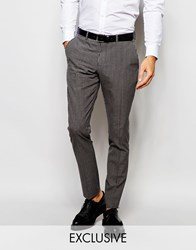 Selected Homme Exclusive Gingham Suit Trousers In Skinny Fit Grey