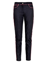 Moschino Contrast Piping Skinny Jeans