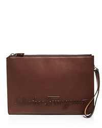 Salvatore Ferragamo Bridle Portfolio Brown