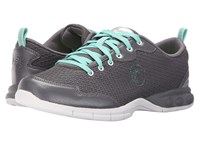 Therafit Candy Walker Dark Grey Women's Lace Up Casual Shoes Gray