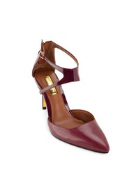 Lauren Ralph Lauren Kabira Leather Dress Pumps Burgundy