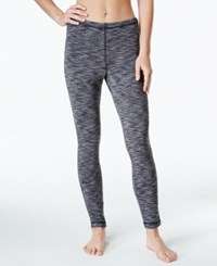 Ideology Space Dyed Brush Lined Fleece Base Layer Leggings Only At Macy's Deep Charcoal Spacedye