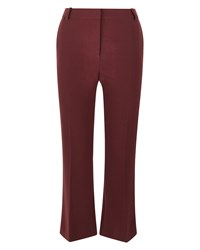Jaeger Laboratory Kick Flare Trousers Red