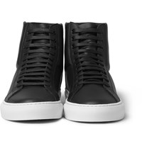 Givenchy High Top Leather Sneakers Black