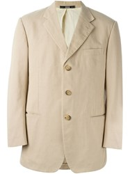 Gianfranco Ferre Vintage Button Blazer Nude And Neutrals