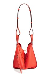 Loewe Small Leather Hobo Red Primary Red