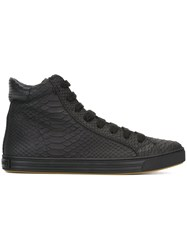 Dsquared2 Snakeskin Effect Hi Top Sneakers Black