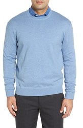 Robert Talbott Men's 'Jersey Sport' Cotton Blend Crewneck Sweater Cadet