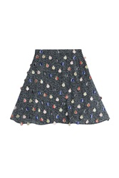 Marco De Vincenzo Embroidered Mouline Skirt Multicolor
