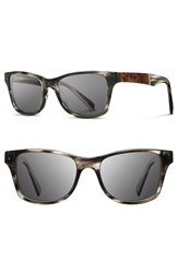 Men's Shwood 'Canby' 54Mm Acetate And Wood Sunglasses Pearl Grey Elm Burl Grey