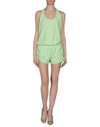 Lez A Lez Short Overalls Light Green