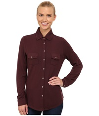 Carve Designs Napa Button Down Spice Women's Long Sleeve Button Up Red
