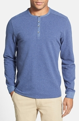 Vince Camuto Slim Fit Knit Henley Crown Blue