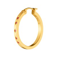 Zabel Earring Naima Petit Red Ruby Mg Gold