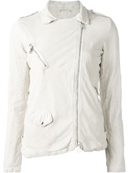 Giorgio Brato Biker Jacket Nude And Neutrals