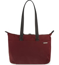 Briggs And Riley Shopping Tote Burgundy