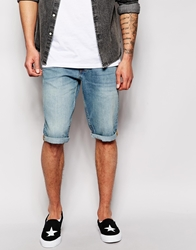 Wrangler Demin Shorts Coltin Tapered Moody Brody Light Wash Bl1blue1