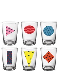 Bitossi Home Rio Set Of 6 Beer Glasses