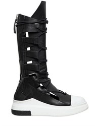 Cinzia Araia 20Mm Leather Sneaker Boots
