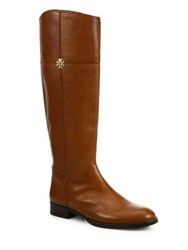 Tory Burch Jolie Leather Riding Boots Black Brown