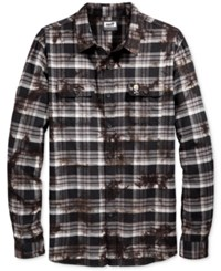 Neff Men's Long Sleeve Burger Boys' Plaid Shirt Black