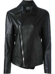 Anthony Vaccarello Off Centre Fastening Jacket Black