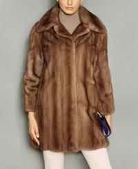 The Fur Vault Wing Collar Mink Coat Pastel