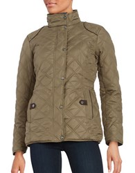 Weatherproof Faux Fur Lined Quilted Coat Safari Khaki