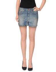 People Denim Shorts Blue