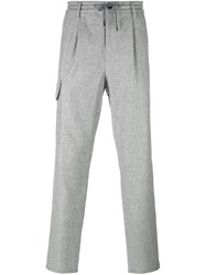 Brunello Cucinelli Striped Track Pants Grey