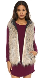 6 Shore Road Hopi Reversible Faux Fur Vest Grey