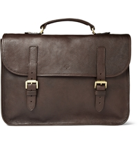 Mulberry Elkington Leather Briefcase Brown