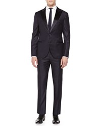 Brunello Cucinelli Wool Peak Lapel Tuxedo Navy
