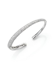 Kwiat Cobblestone Diamond And 18K White Gold Cuff Bracelet