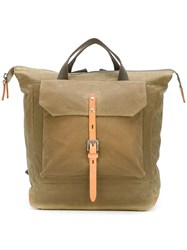 Ally Capellino 'Frances Waxy' Backpack Grey