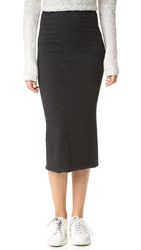 The Lady And The Sailor Knit Midi Skirt Charcoal