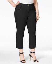 Styleandco. Style And Co. Plus Size Embellished Capri Pants Only At Macy's Deep Black