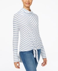 American Rag Juniors' Striped Cowl Neck Top Only At Macy's Egret