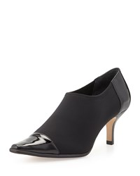 Levy Stretch Low Heel Bootie Black Donald J Pliner