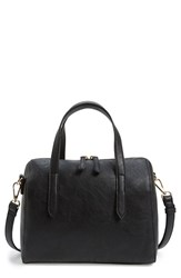 Sole Society 'Morey' Faux Leather Satchel Black