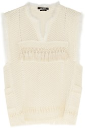Isabel Marant Tacey Crocheted Cotton Blend Top White