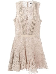 Sly010 Pleated Front Lace Dress