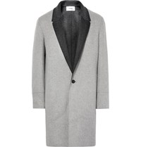 Chalayan Double Faced Virgin Wool And Cashmere Blend Coat Light Gray