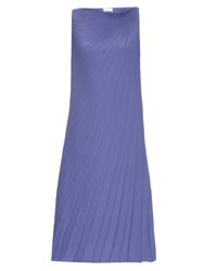 Raey Pleated Knot Shoulder Dress Purple