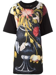 Vivienne Westwood Anglomania Capri Flower Tunic Top Black