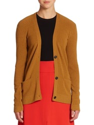 A.L.C. Phillip Ribbed Cardigan Sweater Rouge Toffee