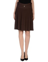 Versace Collection Skirts Knee Length Skirts Women Dark Brown